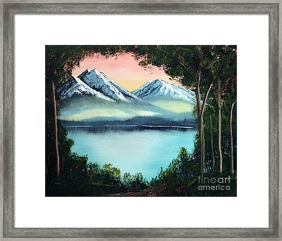 Lake In The Forest Framed Print by Stephen Schaps