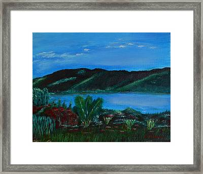 Lake In The Mountains Framed Print