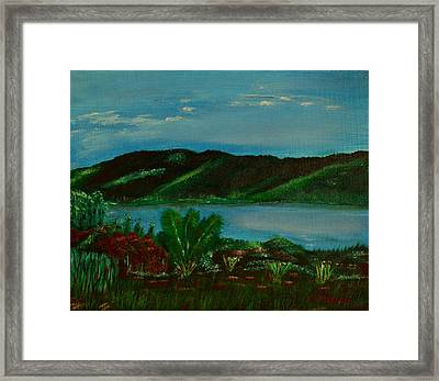 Lake In The Mountains Photo Framed Print