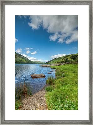 Lake In Wales Framed Print by Adrian Evans