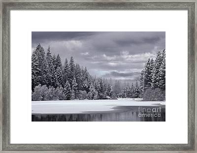 Lake In Winter Framed Print