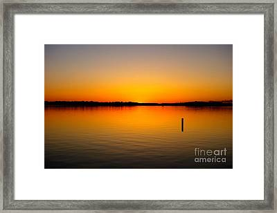 Lake Independence Sunset Framed Print