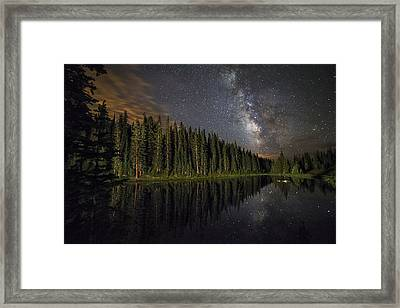 Lake Irene's Milky Way Mirror Framed Print by Mike Berenson