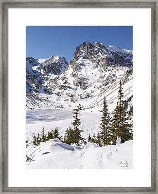 Lake Isabelle Vertical Framed Print by Aaron Spong