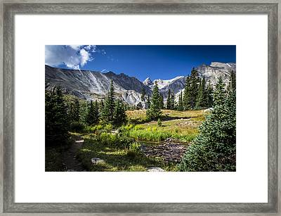 Lake Isbelle Mountains Framed Print by Michael J Bauer