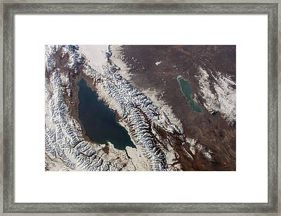 Lake Issyk Kul Framed Print by Nasa