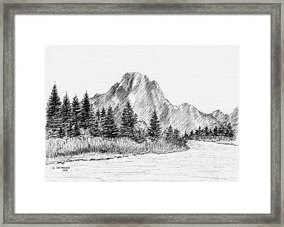 Lake Jackson Framed Print
