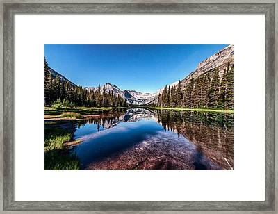 Lake Josephine Framed Print by Aaron Aldrich