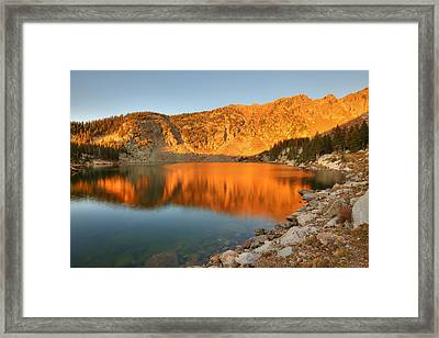 Framed Print featuring the photograph Lake Katherine Sunrise by Alan Ley