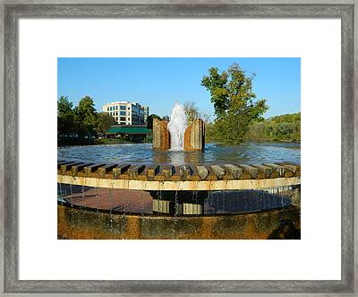 Lake Kittamaqundi Fountain Framed Print by Emmy Marie Vickers