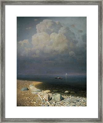 Lake Ladoga, 1873 Oil On Canvas Framed Print