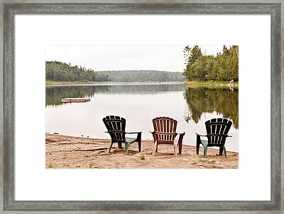 Framed Print featuring the photograph Lake Landscape by Marek Poplawski