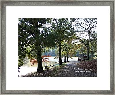 Lake Lanier In Martinsville Va Framed Print by Angelia Hodges Clay