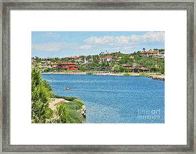 Framed Print featuring the photograph Lake Las Vegas In May by Emmy Marie Vickers