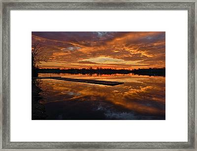 Lake Lenape Sunrise1 Framed Print