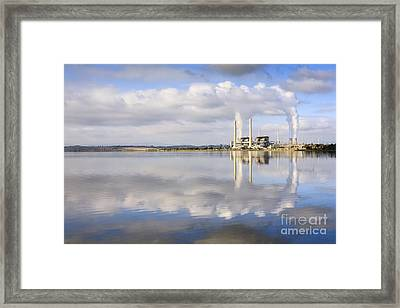 Lake Liddell Power Station Nsw Australia Framed Print by Colin and Linda McKie