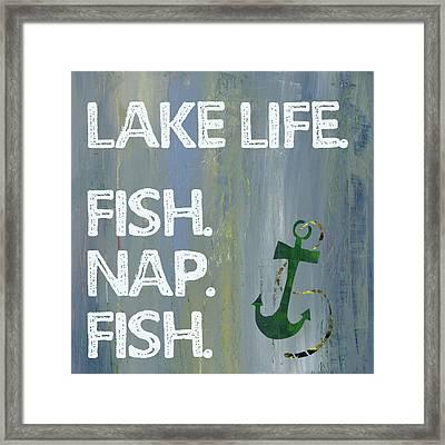 Lake Life Framed Print
