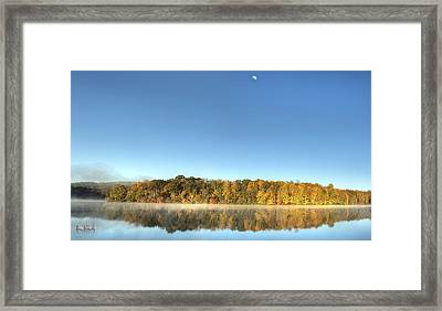 Lake Logan Fall Panorama Framed Print