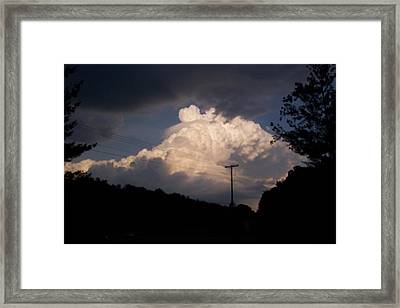 Lake Logan Thunderhead Framed Print