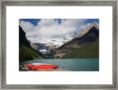 Lake Louise, Banff National Park Framed Print by Peter Adams