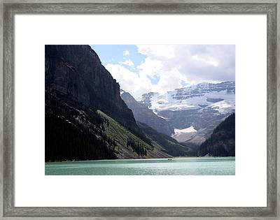 Lake Louise Framed Print by Carolyn Ardolino