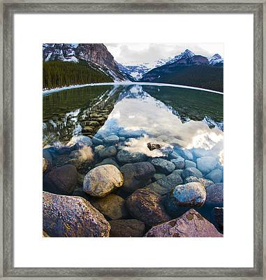 Lake Louise Framed Print by Chris Halford