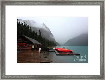 Lake Louise In Banff Alberta Framed Print