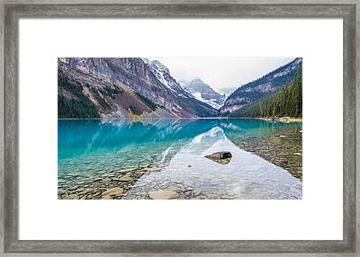 Lake Louise In Banff National Park Alberta Framed Print
