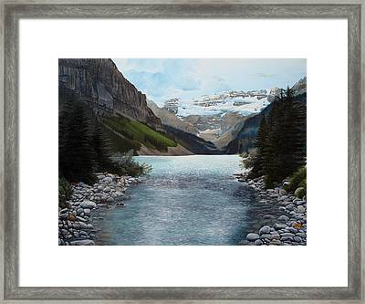 Lake Louise Framed Print by Jennifer Hotai