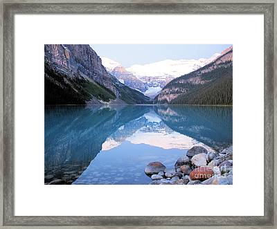 Lake Louise Morning Framed Print