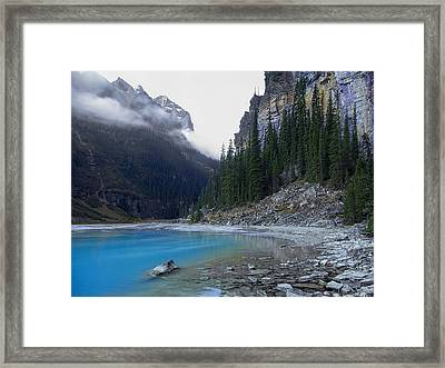Lake Louise North Shore - Canada Rockies Framed Print by Daniel Hagerman