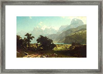 Lake Lucerne Framed Print by Albert Bierstadt