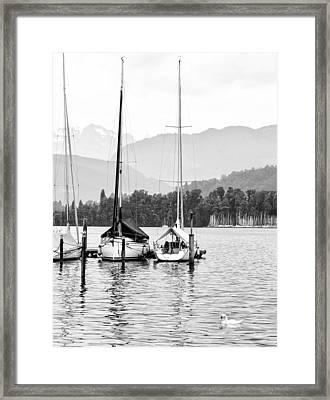 Lake Lucerne Switzerland  Framed Print by Nian Chen
