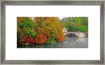 Lake Lure Autumn Framed Print by Marion Johnson