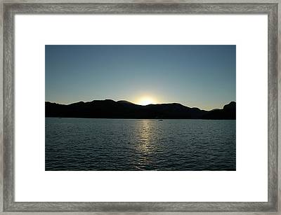Framed Print featuring the photograph Lake Lure Sunset by Allen Carroll