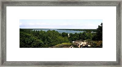Lake Macatawa From Mount Pisgah Framed Print by Michelle Calkins
