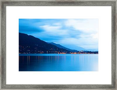 Lake Maggiore Before Sunrise Framed Print by Susan Schmitz