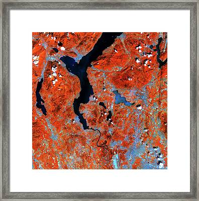 Lake Maggiore Framed Print by European Space Agency/copernicus Sentinel Data (2015)