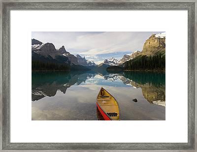 Lake Maligne, Near Jasper, Jasper Framed Print