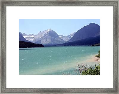 Lake Mcdonald Framed Print by Carolyn Ardolino