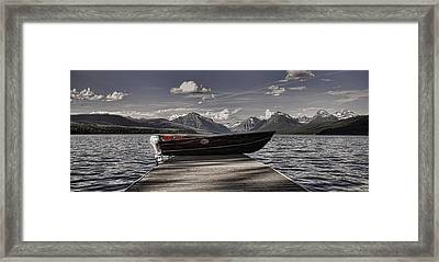 Framed Print featuring the photograph Lake Mcdonald by Ellen Heaverlo