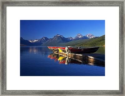 Lake Mcdonald Morning Framed Print