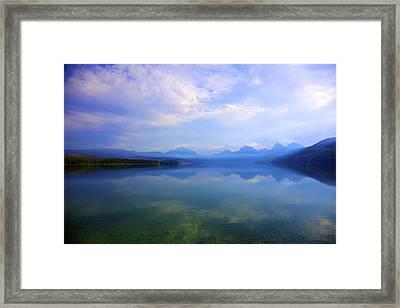 Lake Mcdonald Framed Print by Terry Horstman