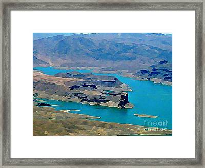 Lake Mead Aerial Shot Framed Print by John Malone
