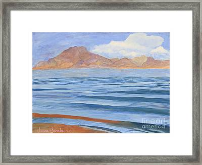 Lake Mead Framed Print by Jayne Schelden