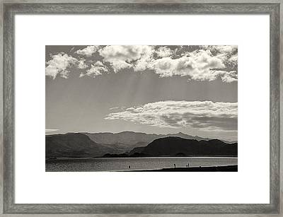 Lake Mead Nevada April 2012 Framed Print by Joseph Duba