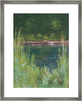 Lake Medina Framed Print