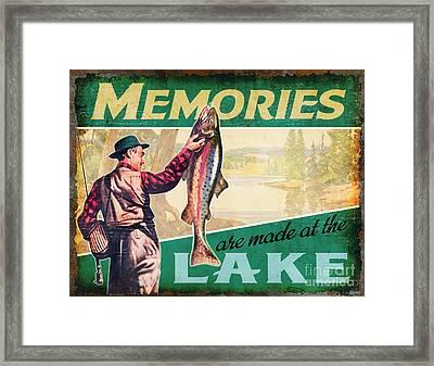 lake Memories Framed Print