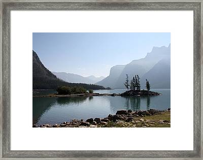 Lake Mennewanka Framed Print by Carolyn Ardolino