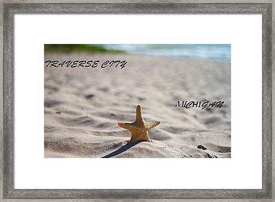 Lake Michigan Beach Traverse City Framed Print